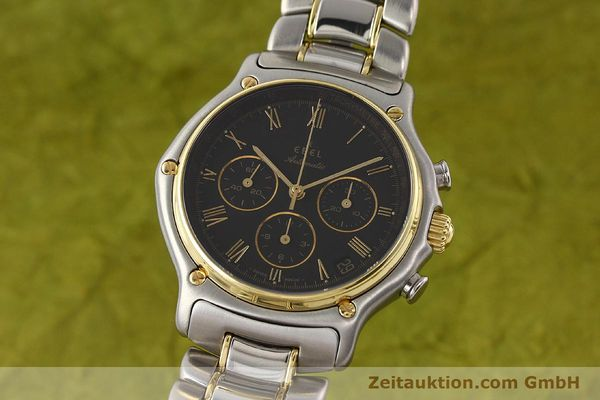 Used luxury watch Ebel 1911 chronograph steel / gold automatic Kal. 134 Ref. 1134901  | 141513 04