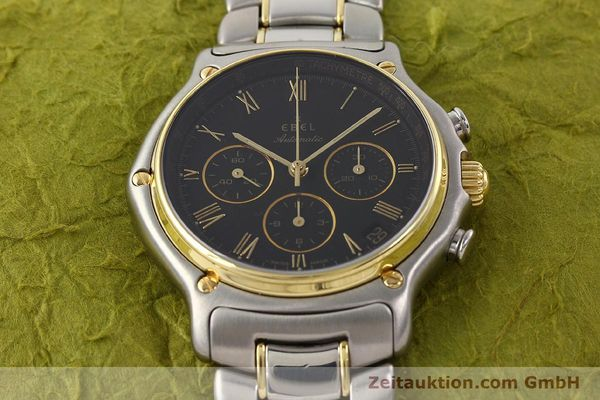 Used luxury watch Ebel 1911 chronograph steel / gold automatic Kal. 134 Ref. 1134901  | 141513 14