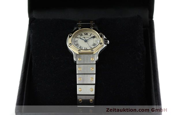 montre de luxe d occasion Cartier Santos acier / or  quartz  | 141514 07
