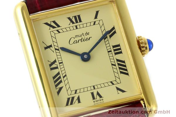 Used luxury watch Cartier Tank silver-gilt quartz  | 141521 02