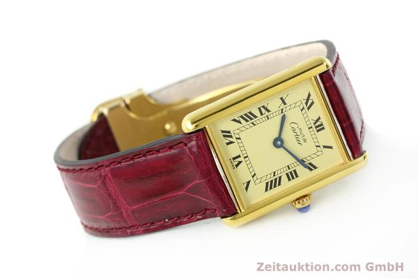 Used luxury watch Cartier Tank silver-gilt quartz  | 141521 03