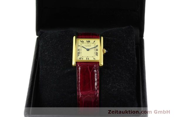 Used luxury watch Cartier Tank silver-gilt quartz  | 141521 07