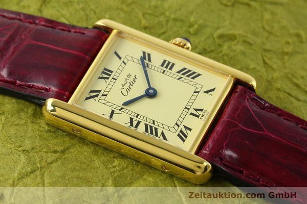 Used luxury watch Cartier Tank silver-gilt quartz  | 141521 12