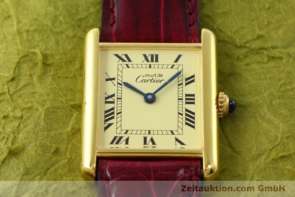 Used luxury watch Cartier Tank silver-gilt quartz  | 141521 13