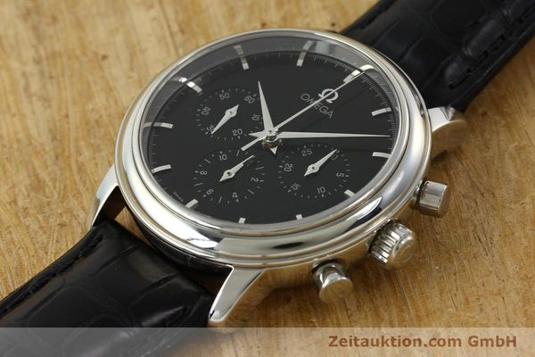 Used luxury watch Omega De Ville chronograph steel manual winding Kal. 861 Ref. 48405101  | 141524 01