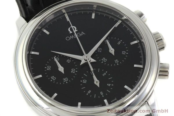 Used luxury watch Omega De Ville chronograph steel manual winding Kal. 861 Ref. 48405101  | 141524 02