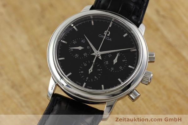 Used luxury watch Omega De Ville chronograph steel manual winding Kal. 861 Ref. 48405101  | 141524 04