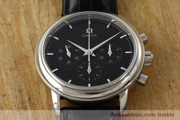 Used luxury watch Omega De Ville chronograph steel manual winding Kal. 861 Ref. 48405101  | 141524 17