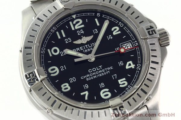 Used luxury watch Breitling Colt steel quartz Kal. B74 Ref. A74350  | 141526 02