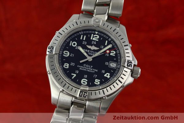 Used luxury watch Breitling Colt steel quartz Kal. B74 Ref. A74350  | 141526 04