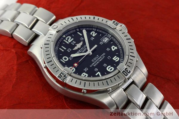 Used luxury watch Breitling Colt steel quartz Kal. B74 Ref. A74350  | 141526 16