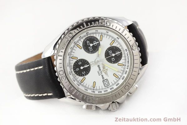 Used luxury watch Breitling Shark chronograph steel automatic Kal. B13 ETA 7750 Ref. A13051  | 141531 03