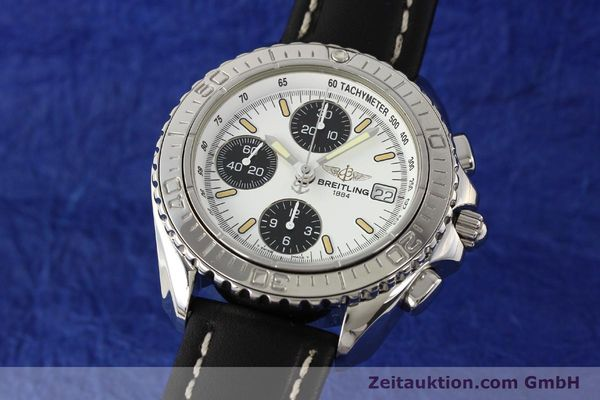 Used luxury watch Breitling Shark chronograph steel automatic Kal. B13 ETA 7750 Ref. A13051  | 141531 04