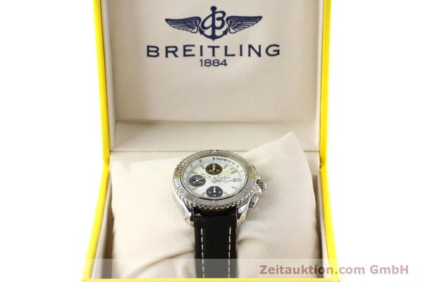 Used luxury watch Breitling Shark chronograph steel automatic Kal. B13 ETA 7750 Ref. A13051  | 141531 07