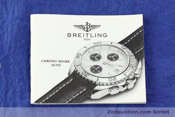 Used luxury watch Breitling Shark chronograph steel automatic Kal. B13 ETA 7750 Ref. A13051  | 141531 11