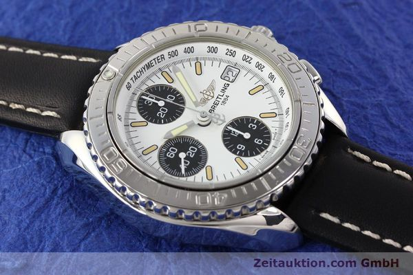 Used luxury watch Breitling Shark chronograph steel automatic Kal. B13 ETA 7750 Ref. A13051  | 141531 14