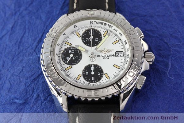 Used luxury watch Breitling Shark chronograph steel automatic Kal. B13 ETA 7750 Ref. A13051  | 141531 15