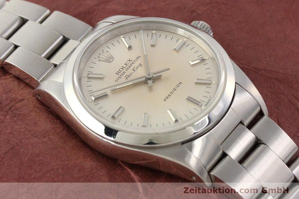 montre de luxe d occasion Rolex Air King acier automatique Kal. 3000 Ref. 14000  | 141545 15