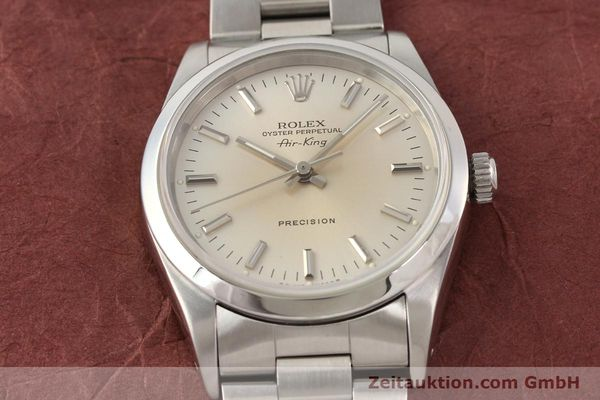 montre de luxe d occasion Rolex Air King acier automatique Kal. 3000 Ref. 14000  | 141545 16