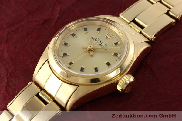 Used luxury watch Rolex Oyster Perpetual 18 ct gold automatic Kal. 2030  | 141552 01