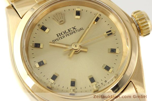 Used luxury watch Rolex Oyster Perpetual 18 ct gold automatic Kal. 2030  | 141552 02