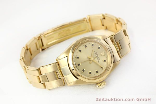 Used luxury watch Rolex Oyster Perpetual 18 ct gold automatic Kal. 2030  | 141552 03