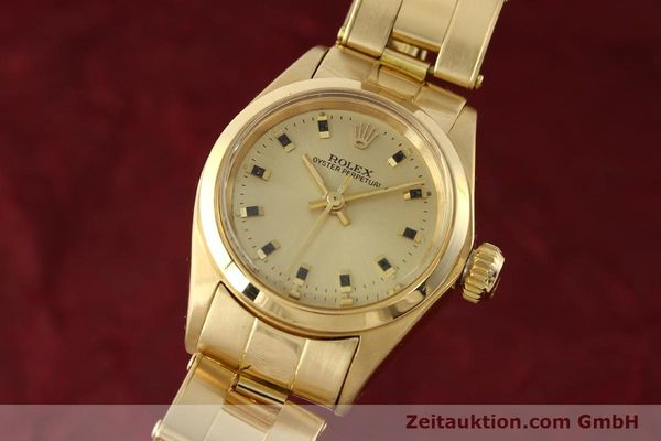 Used luxury watch Rolex Oyster Perpetual 18 ct gold automatic Kal. 2030  | 141552 04