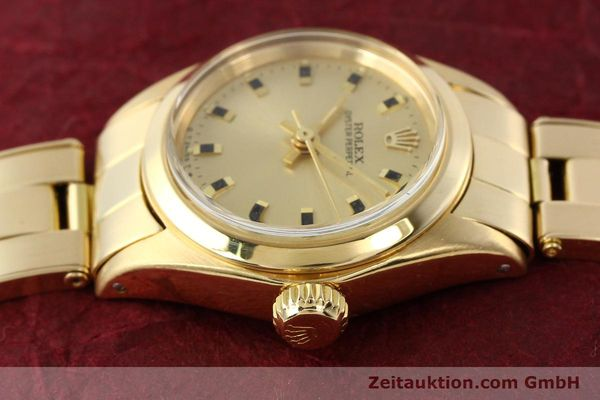 Used luxury watch Rolex Oyster Perpetual 18 ct gold automatic Kal. 2030  | 141552 05