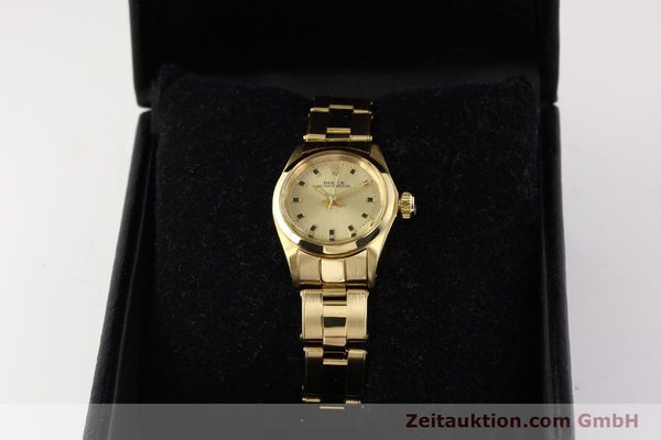 Used luxury watch Rolex Oyster Perpetual 18 ct gold automatic Kal. 2030  | 141552 07