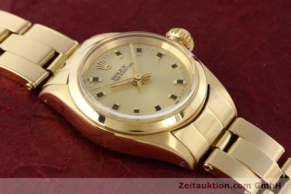 Used luxury watch Rolex Oyster Perpetual 18 ct gold automatic Kal. 2030  | 141552 14
