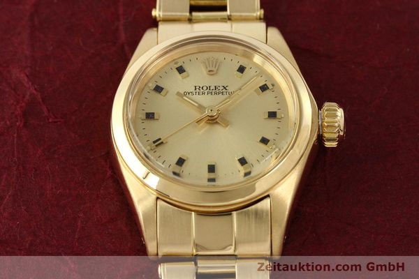 Used luxury watch Rolex Oyster Perpetual 18 ct gold automatic Kal. 2030  | 141552 15