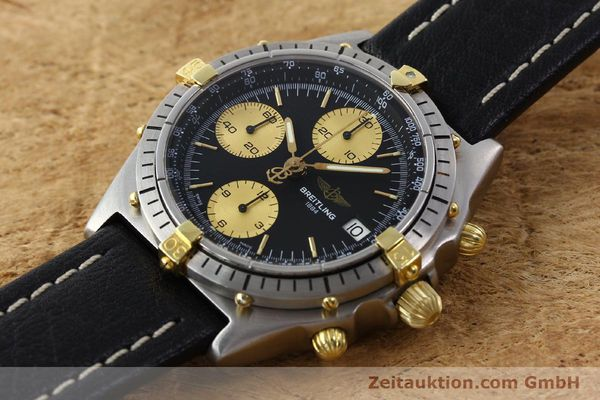 Used luxury watch Breitling Chronomat chronograph gilt steel automatic Kal. ETA 7750 Ref. 81950A  | 141559 01