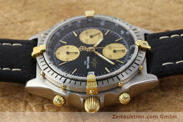 Used luxury watch Breitling Chronomat chronograph gilt steel automatic Kal. ETA 7750 Ref. 81950A  | 141559 05