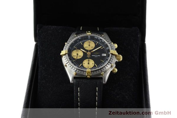 Used luxury watch Breitling Chronomat chronograph gilt steel automatic Kal. ETA 7750 Ref. 81950A  | 141559 07