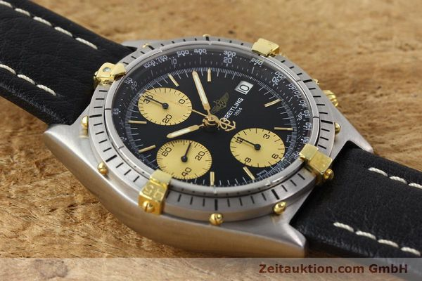Used luxury watch Breitling Chronomat chronograph gilt steel automatic Kal. ETA 7750 Ref. 81950A  | 141559 12