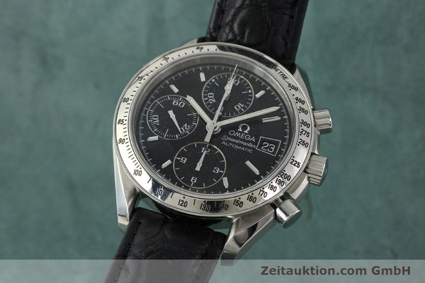Used luxury watch Omega Speedmaster chronograph steel automatic Kal. 1152 Ref. 35135000  | 141560 04
