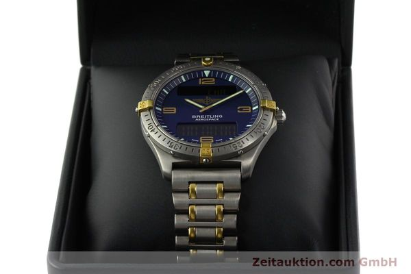 Used luxury watch Breitling Aerospace chronograph titanium / gold quartz Kal. B56 ETA 988332 Ref. F56062  | 141568 07