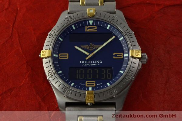 Used luxury watch Breitling Aerospace chronograph titanium / gold quartz Kal. B56 ETA 988332 Ref. F56062  | 141568 14