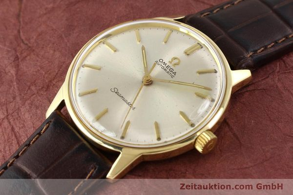 Used luxury watch Omega Seamaster 14 ct yellow gold automatic Kal. 552 Ref. 165001  | 141581 01