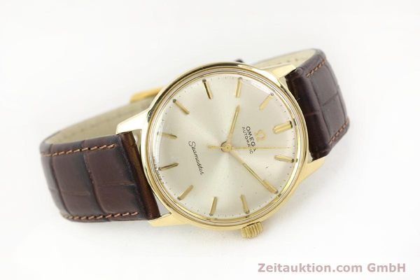 Used luxury watch Omega Seamaster 14 ct yellow gold automatic Kal. 552 Ref. 165001  | 141581 03