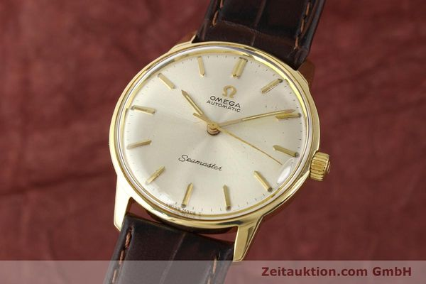 Used luxury watch Omega Seamaster 14 ct yellow gold automatic Kal. 552 Ref. 165001  | 141581 04