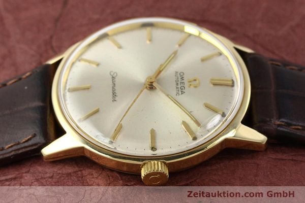 Used luxury watch Omega Seamaster 14 ct yellow gold automatic Kal. 552 Ref. 165001  | 141581 05