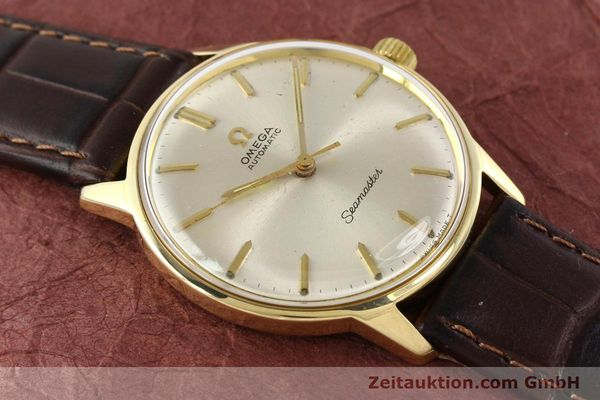 Used luxury watch Omega Seamaster 14 ct yellow gold automatic Kal. 552 Ref. 165001  | 141581 11