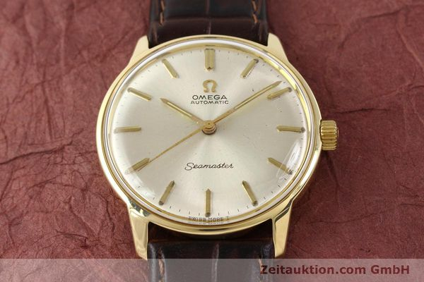 Used luxury watch Omega Seamaster 14 ct yellow gold automatic Kal. 552 Ref. 165001  | 141581 12