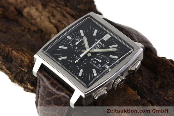 Used luxury watch Tag Heuer Monaco steel automatic Kal. 17 ETA 2894-2 Ref. CW2111-0  | 141583 01