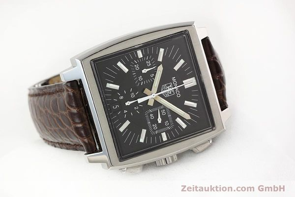 Used luxury watch Tag Heuer Monaco steel automatic Kal. 17 ETA 2894-2 Ref. CW2111-0  | 141583 03