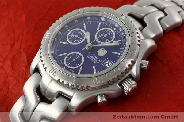 Used luxury watch Tag Heuer Link chronograph steel automatic Kal. ETA 7750 Ref. CT2111  | 141588 01