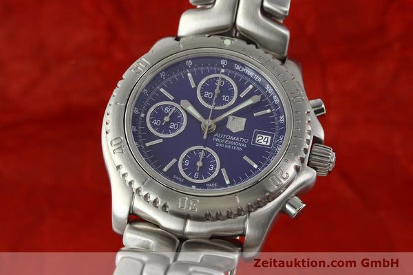 Used luxury watch Tag Heuer Link chronograph steel automatic Kal. ETA 7750 Ref. CT2111  | 141588 04