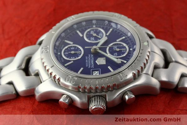 Used luxury watch Tag Heuer Link chronograph steel automatic Kal. ETA 7750 Ref. CT2111  | 141588 05