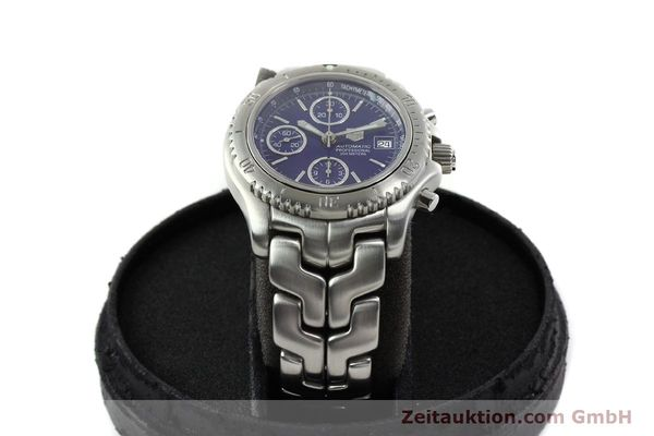 Used luxury watch Tag Heuer Link chronograph steel automatic Kal. ETA 7750 Ref. CT2111  | 141588 07